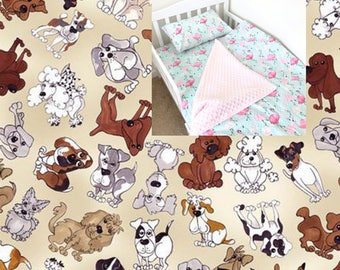 Dogs Toddler Bedding Set Fashion Dogs Toddler Bedding Blanket Boy Girl Toddler Bedding Doggies Crib Bedding Fitted Sheet Pillow Case