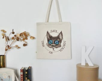 Organic Tote Bag. My mind control cats