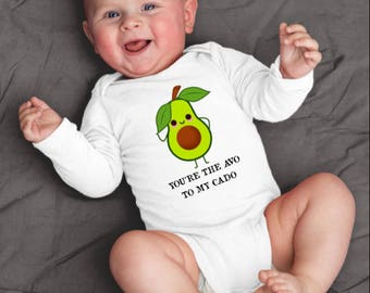 Avocado Bodysuit, Avocado Baby Shirt, Cute Avocado Shirt, Fruit Baby Clothes, Vegan Baby Gifts, Vegetable Baby Shower, Avocuddle Bodysuit