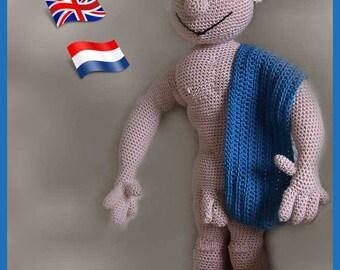 Philippe Mister Universe, Amigurumi doll crochet pattern, crocheted dolls pattern, amigurumi PDF pattern, Instant download