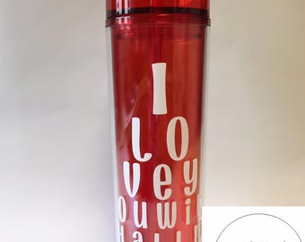 Valentine's Day/Valentine's gift/I love you gift/ Valentine/With all my heart/Love/ I love you/ Eye Doctor/Tumbler/straw tumbler