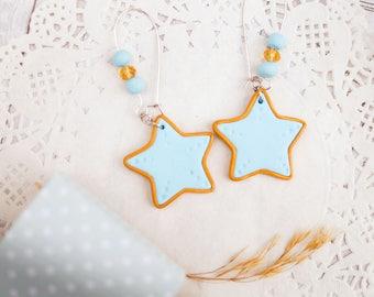 Sea star earrings Starfish earrings Starfish jewelry Sea star jewelry Beach earrings Summer earrings Dangle Earrings Cute Star Earrings