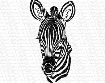 Black White Zebra Svg Clipart, realistic Ai vector art by SpeecchBubble