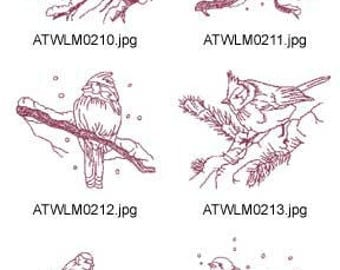 Winter-Birds-Redwork ( 10 Machine Embroidery Designs from ATW ) XYZ17F