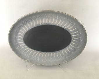 NEW PRICE Denby Langley Echo Blue Oval Platter Serviceware Made in England