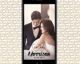 Wedding Geotag Wedding Geofilter Wedding Snapchat Wedding Filter Mr. and Mrs. Snapchat Mr & Mrs Geofilter Gold Filter Gold Geotag Snap chat