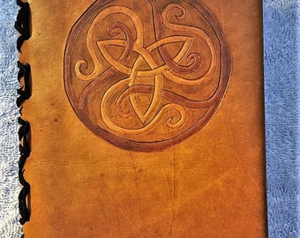 Refillable Leather Journal with A5 Lined Paper - Multiple designs available - Great Gift for writers!