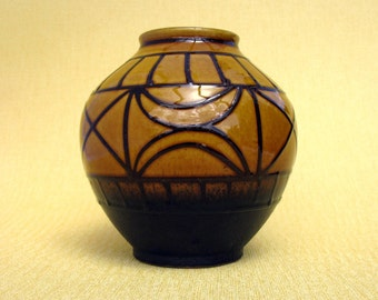 West German Pottery Vase / Fat Lava / German Pottery / Studio Vase / Mid Century / Modern / Carstens / Form 652-13 / 60,s /  << Austria >>