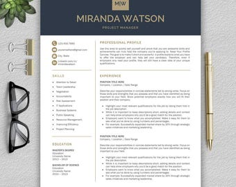 Professional Resume Template | Resume Template for Word | CV Template + Cover Letter & References | Modern Resume Template | Professional CV