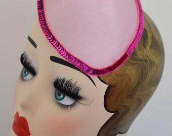 Pillbox Hat Fascinator Pink Flower Fleur Camée Camey Millinery Bibi