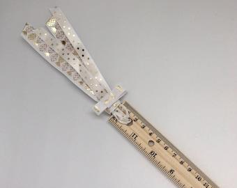 Gold Pineapple Polka Dot Glitter Badass Girl Ribbon Planner Ruler Back To School Home Office School Supplies Read
