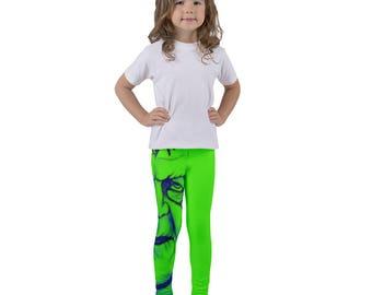 Kid's leggings, Frankenstein Kids Clothing, Halloween Monster, Neon Green Pants, Toddler Clothing, Gift for little Boys, Unisex Children's