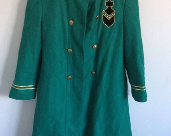 Coat military green vintage