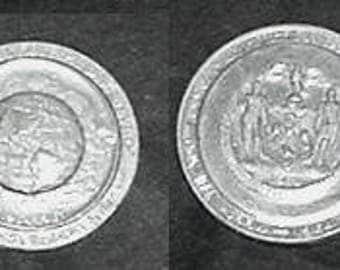 """New York World's Fair 1964 - """"Peace Through Understanding"""" Coin"""