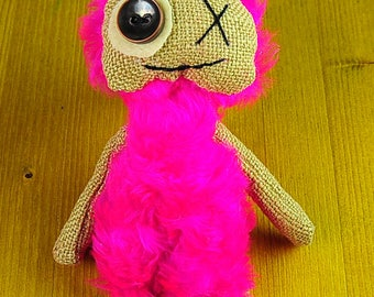 Plush Monster Bright toy Hand made monster  Pretty doll  Dolls Baby toy FREE SHIPPING OOAK Art toy Gifts for kids Prim Booo