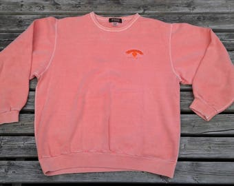 Beautiful and Soft Pink Peach Orange Pastel Crewneck Sweatshirt Wind River Outfitting Company Made in Canada XL