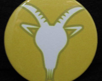 Capricorn Pin Back ~Capricorn Badge~ December 21 – January 19