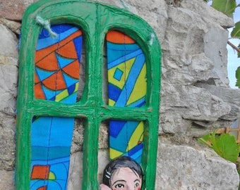 Terracotta sculpture-terracotta poster-terracotta figurines-figurines-terracotta clay handmade art-sculpture-window-hanging