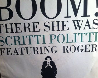 Scritti Politti Boom There She Was Vinyl Pop 45 rpm Picture Sleeve