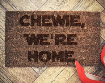 Star Wars Inspired Welcome Doormat coconut chewie we're home