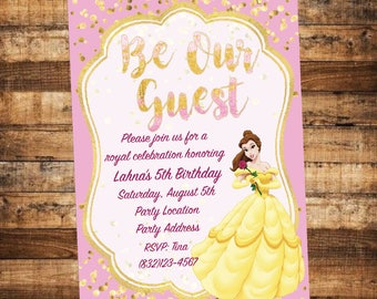 Beauty And The Beast Party Invitation