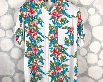 Vintage Hawaiian Shirt by ORIGINAL Floral Fauna Full Print