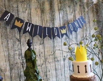 A Wild One Banner - Wild Banner - Wild One Birthday Decor - First Birthday Banner - Wild One Decor - Wild One Party - First Birthday Decor