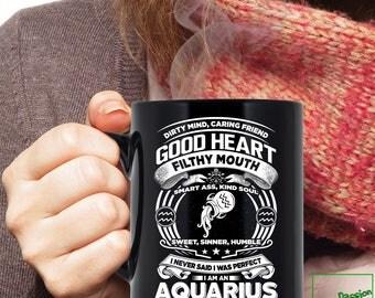 Aquarius Mug, Aquarius Zodiac Mug, Aquarius Astrology Mug, Aquarius Astrology Birthday Gift, Aquarius Horoscope Gift, Aquarius Cup TP5005M