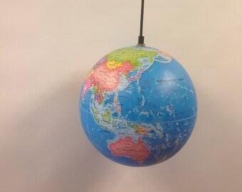 Constellation illuminated globe pendant light