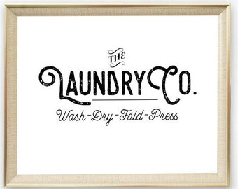 PRINTABLE Laundry Co Sign, Laundry Room Printable, Laundry Room Sign, Farmhouse Sign