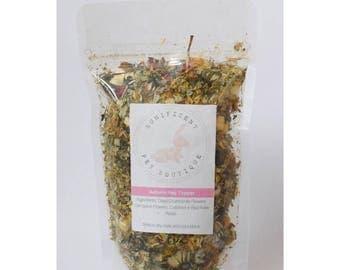 Autumn Hay Topper -  Dry Herbs and Flower Treats for Rabbits, Rabbit food, Bunny treats Australia, guinea pig treats Rabbit treats