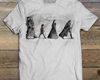 Game Of Thrones Shirt, Jon Snow Shirt, Arya shirt, Sansa shirt, Hodor Shirt, Abbey Road, Men & Unisex