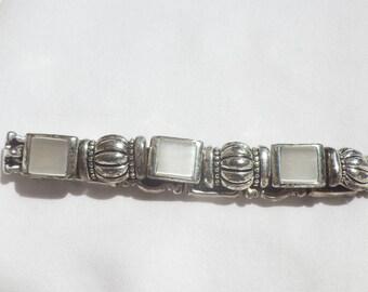 Vintage Steel Linked Magnetic Bracelet
