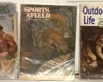 LOT of Vintage sports afield, outdoors, and outdoor life