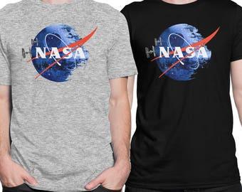 NASA DEATH STAR Star Wars Darth Vader Men T-shirt in Black or Grey