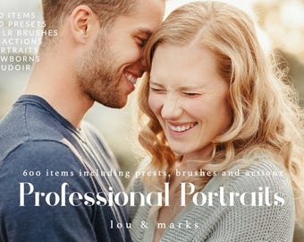 600+ Professional Portrait Editing Lightroom Presets & Photoshop Actions, and Lightroom Brushes for Portraits, Newborns and Weddings