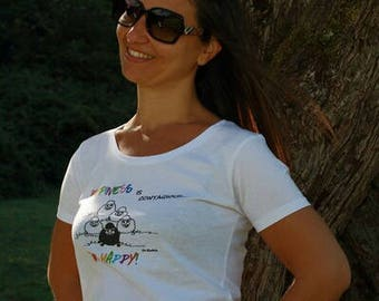T-shirt happiness blacksheep organic cotton