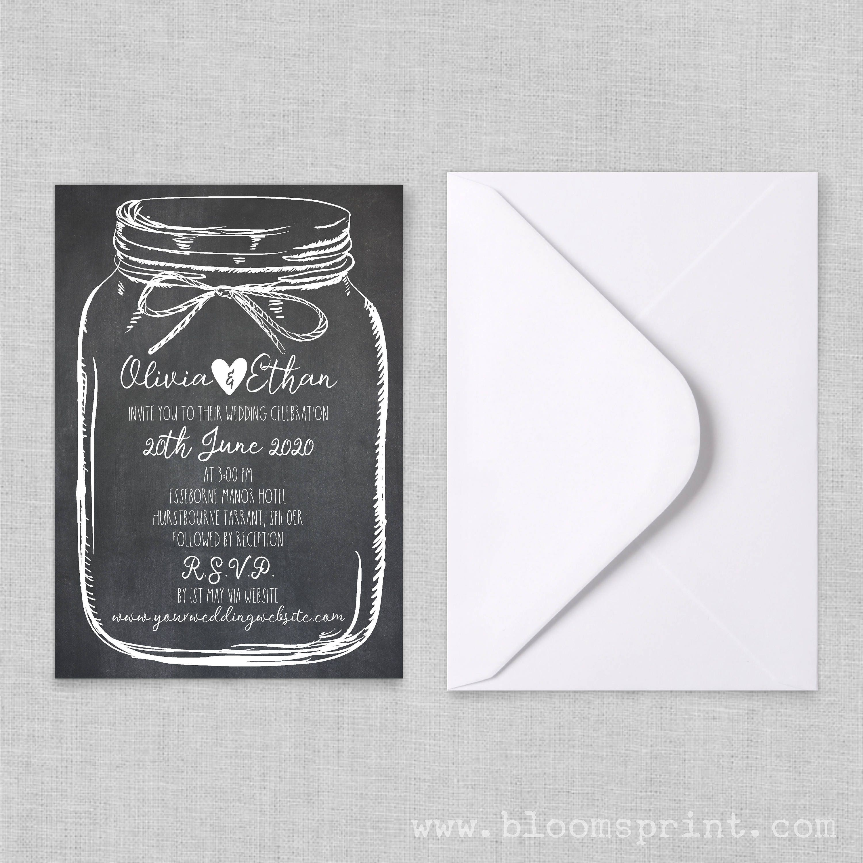 Rustic Mason Jar Wedding Invitations, Country Wedding Invitation Templates, Rustic  Wedding Invitations Cheap, Barn Wedding Invites