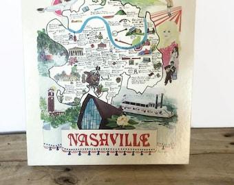 Nashville City 550 piece Puzzle Vintage 1978 Music City