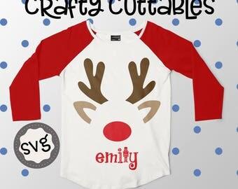 Cute Reindeer Face svg, Christmas svg, SVG, DXF, EPS, Christmas svg, svg, grinch svg, cut file, Christmas svg, monogram svg