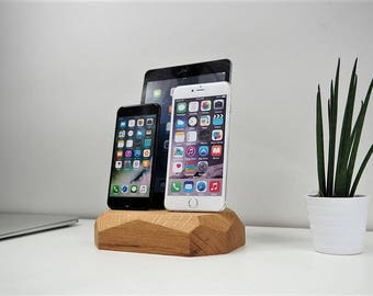 Charging station - triple dock - apple docking station - iphones charger - desk organizer - Family charging station - House gift