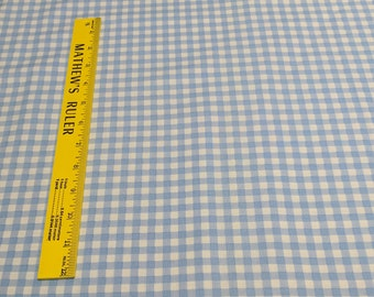 Blue Checkered Cotton Fabric