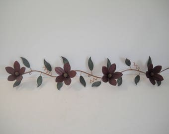 Burgandy Flowers Wall Hanging