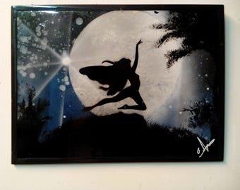 Little fairy has the full moon