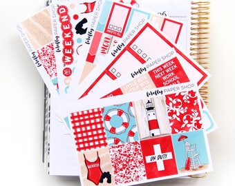 BAEwatch Weekly Kit (stickers for Erin Condren Life Planner - Vertical)