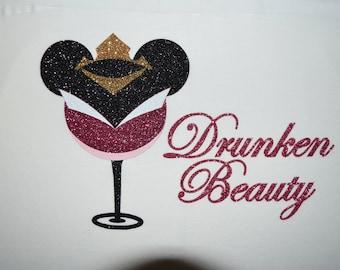 Drunken Beauty, Princess Aurora, Sleeping Beauty, Epcot Food and Wine Shirt, Disney Drinking Shirt