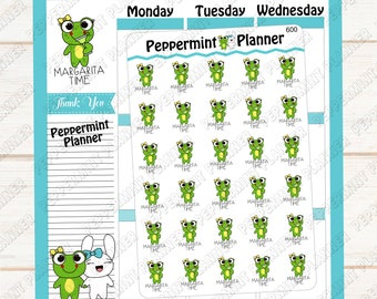 LillyPad Margarita Time --- Planner Stickers --- Hand Drawn Character --- 600