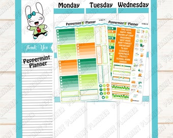 St Patrick Day Weekly Planner Kit --- Planner Stickers --- Will fit in your Mini Recollection Vertical Planner --- REC10