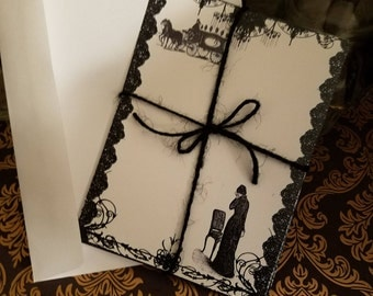 Victorian Mourning note cards-set of 2