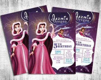 Disney princes invitations/Digital art to print at home